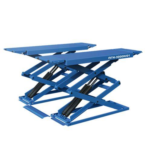 подъемник пантографный электрогидравлический, напольный, 4 гидроцилиндра, 3 т. длина платформ 1570-2010мм, ширина платформ 569мм, высота подъема 1900мм.