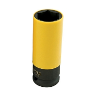 головка глубокая ударная тонкостенная для литых дисков  1/2 22мм l=86мм yellow toptul