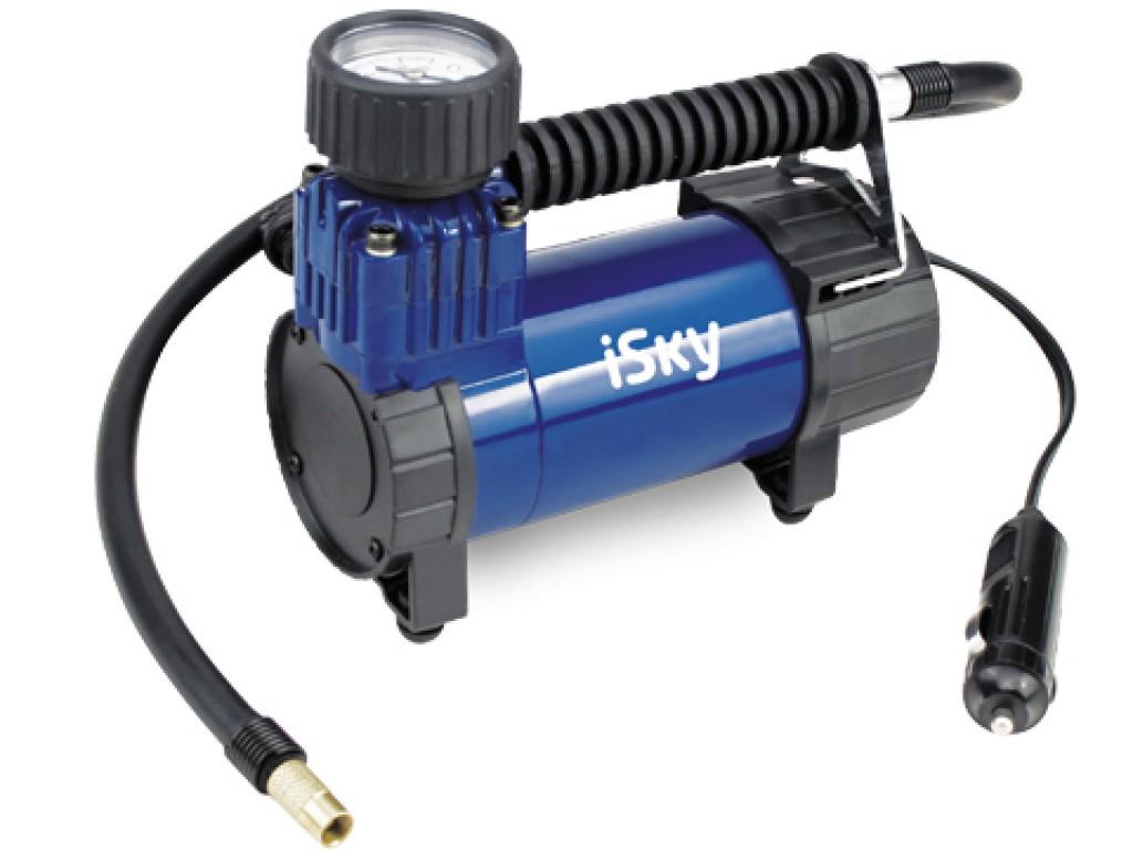 Компрессор автомобильный металический isky (27 л/мин)