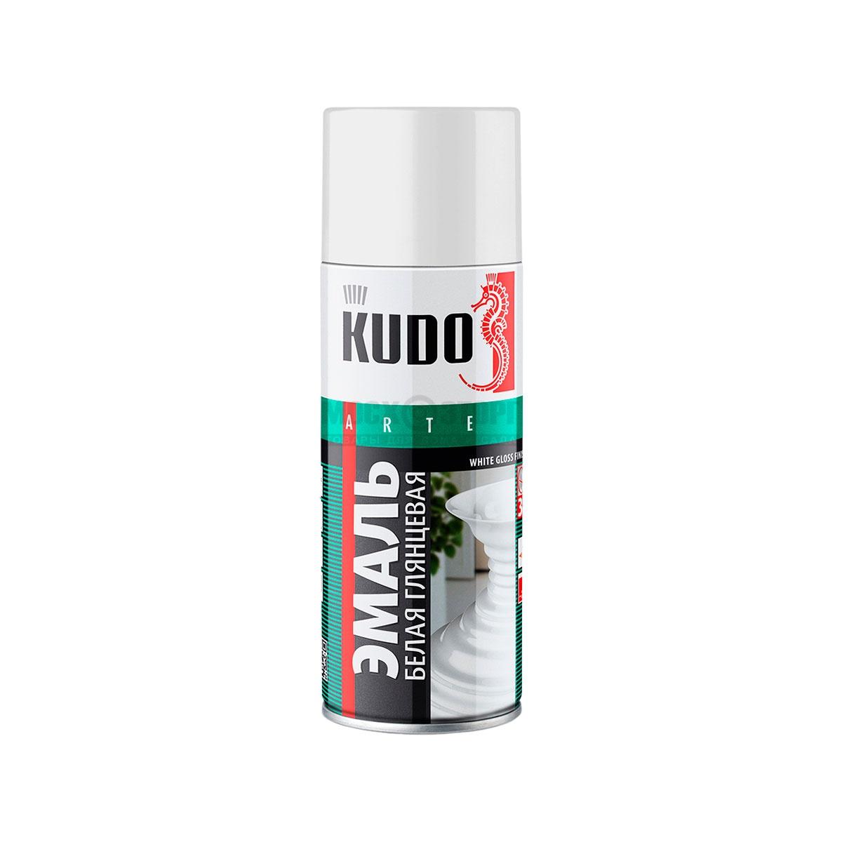 """Краска """"KUDO"""" белая глянцевая (520 мл) (аэрозоль)"""