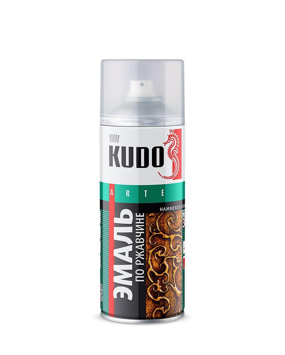 "Краска ""KUDO"" молотковая по ржавчине серебристая (520 мл) (аэрозоль)"