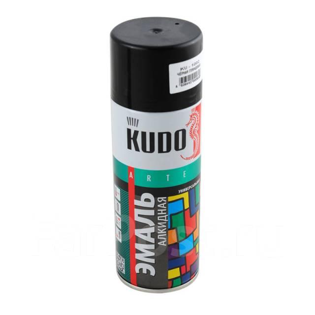 """Краска """"KUDO"""" черная глянцевая (520 мл) (аэрозоль)"""