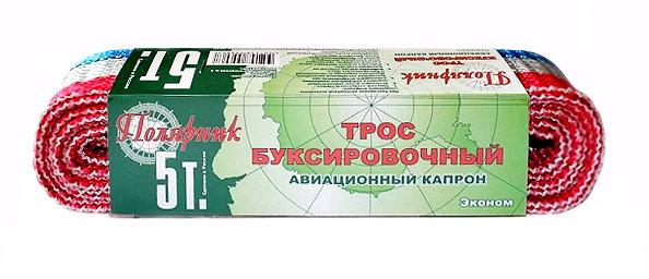 Трос ПОЛЯРНИК лента 5 т 2 крюка