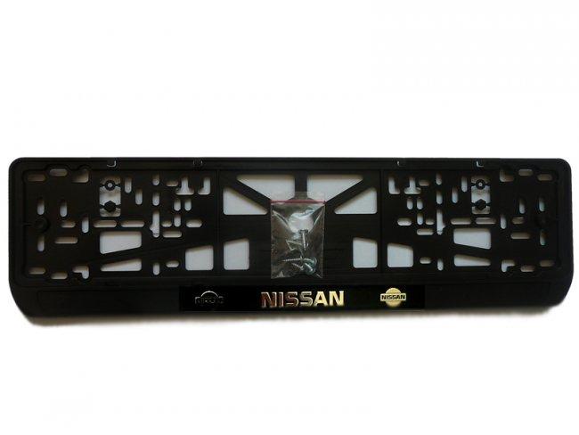 """Рамка """"Nissan"""", с подсветкой надписи, белое свечение"""