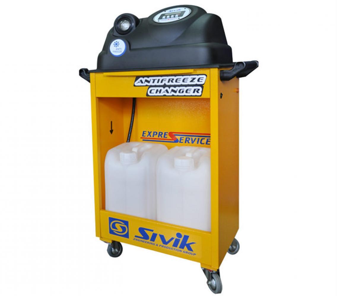 Установка для замены охлаждающей жидкости ДВС автомобилей, модель КС-121М