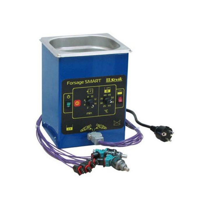 Ультразвуковая ванна для очистки форсунок инжекторных бензиновых двигателей с таймером и подогревом.