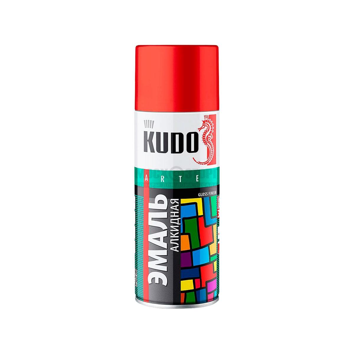 """Краска """"KUDO"""" красная (520 мл) (аэрозоль)"""