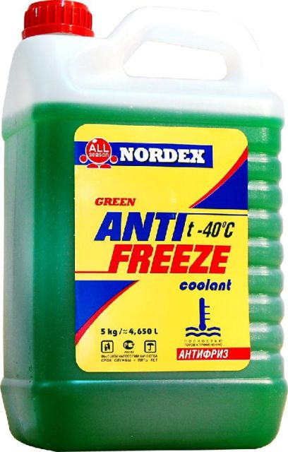 Антифриз зеленый (-40) 5 кг