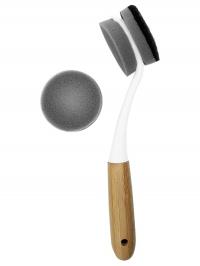 Эко щетка для мытья посуды длинная ручка (комплект)