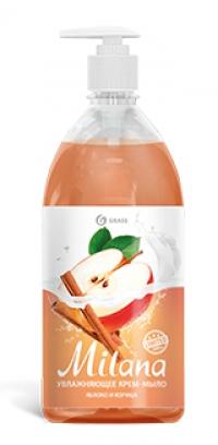 """Жидкое крем-мыло """"Milana"""" яблоко и корица (флакон 1000 мл)"""